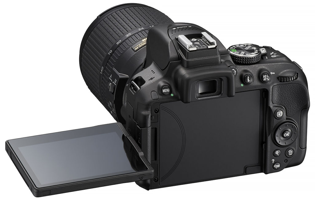 The Nikon D5300 has an articulating screen which is especially useful for framing high and low shots.